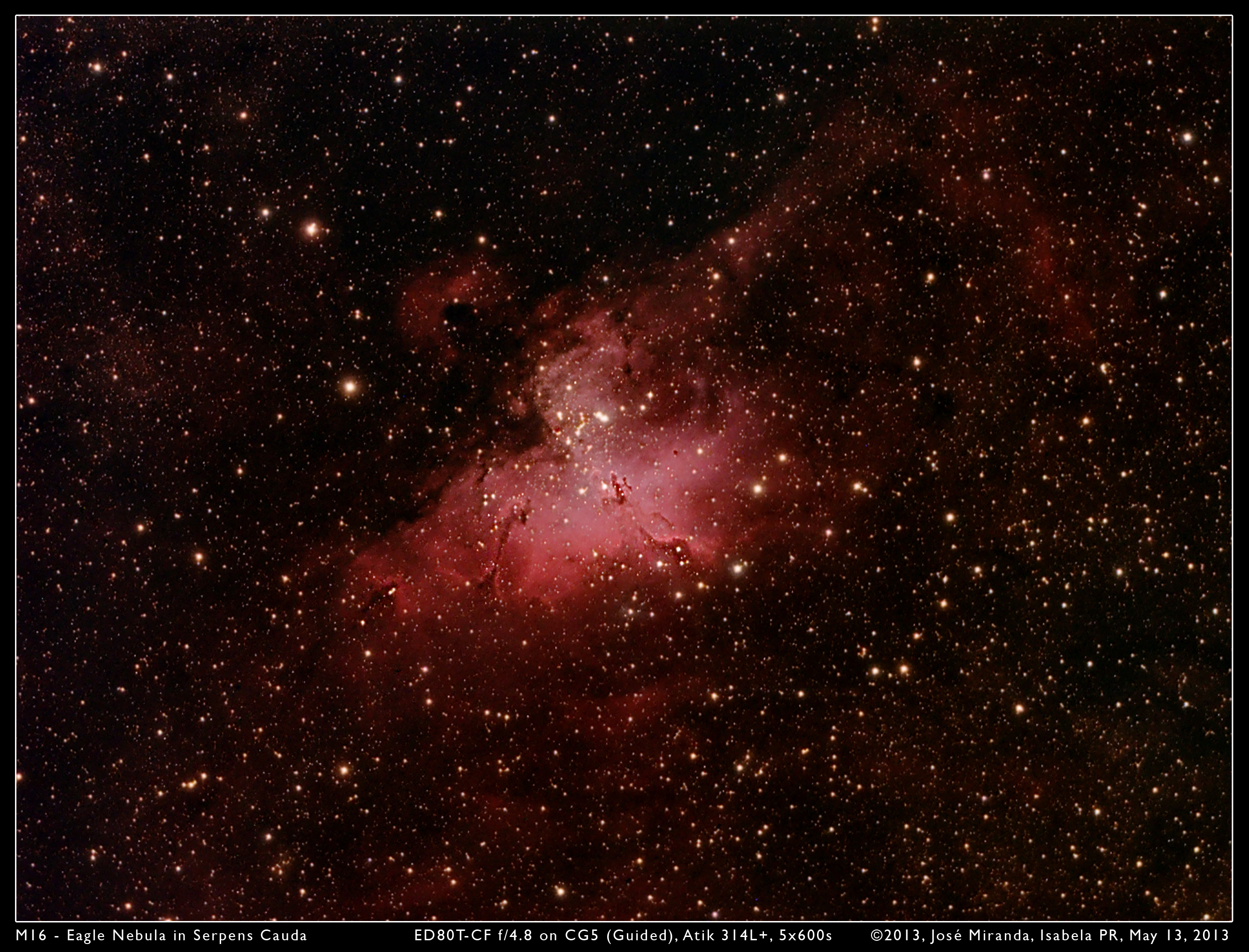 M16 - Eagle Nebula in Serpens Cauda