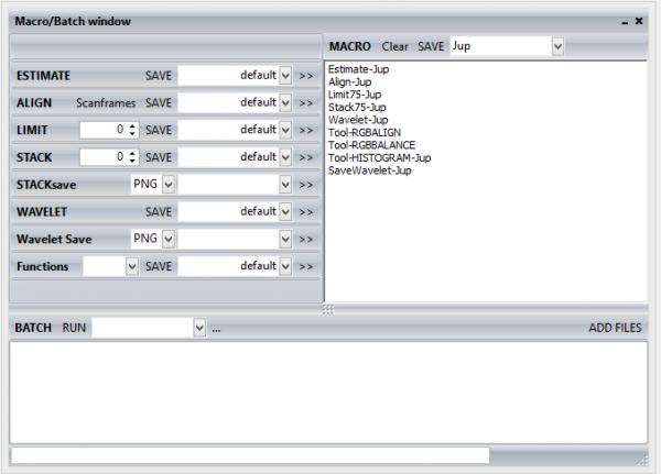 Registax Macro/Batch window